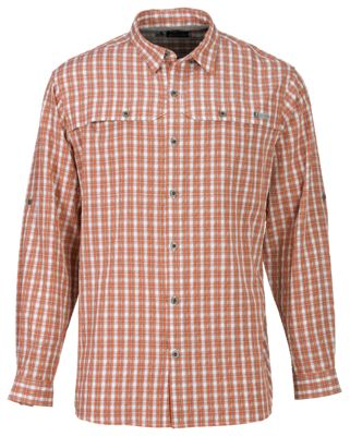 RedHead No Fly Zone Plaid Long-Sleeve Shirt for Men  by