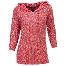Natural Reflections Twisted Yarn Hooded Sweater for Ladies