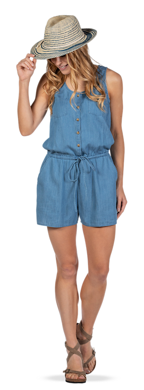 Get the Chambray Romper Look