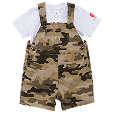 Carhartt Tan Camo Shortalls Set for Baby Boys