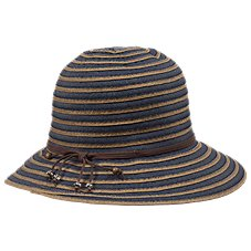 Dorfman Pacific Striped Bucket Hat for Ladies