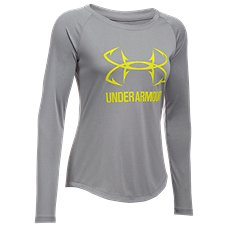 Under Armour Fish Hook Logo Raglan Shirt for Ladies