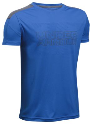 ?Under Armour Activate HeatGear T Shirt for Boys? Ultra Blue/Graphite L