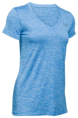 Image of Under Armour Novelty Tech V-Neck T-Shirt for Ladies - Water - S