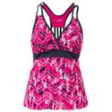 Free Country Mix and Match Collection Caribbean Racerback Tankini for Ladies