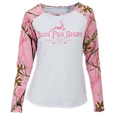 Bass Pro Shops TrueTimber Camo Thermal Raglan Shirt for Ladies