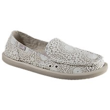 Sanuk Donna Crochet Slip-On Shoes for Ladies